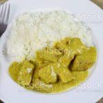Barquette de curry de porc- (sans le riz) 2 parts