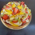 Tarte panachée aux fruits exotiques