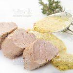 Filet mignon de porc polenta asperges